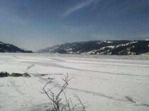 zugefrorener Alpsee